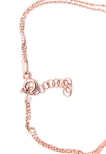 Гривна от Розово Сребро с Голям Камък Цирконий