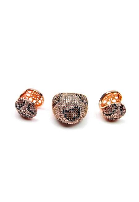 Комплект обеци с пръстен KMR004
