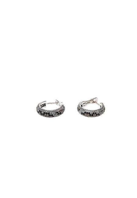 Обеци бяло сребро и цирконий BT002