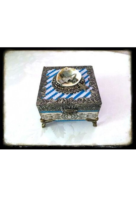 Кутия за бижута с морска тематика