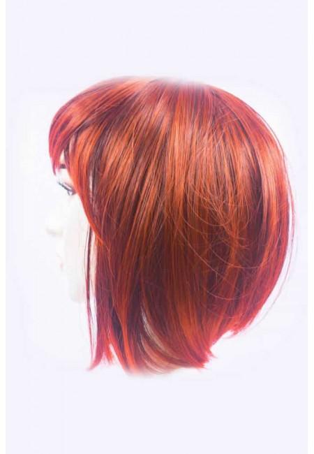 Червена Къса Перука от изкуствен косъм
