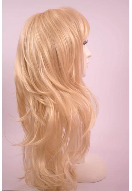 Дълга Руса Перука от изкуствен косъм